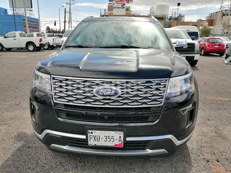 foto Ford Explorer 5p Platinium V6/3.5 Aut usado (2019) color Negro precio $749,000