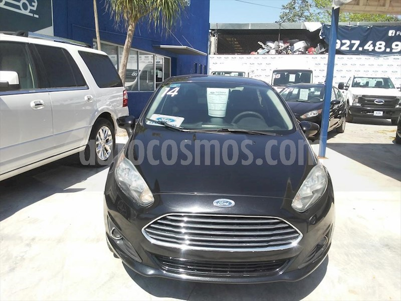 foto Ford Fiesta Sedán 4P S 5VEL 1.6L usado (2014) color Negro precio $108,000