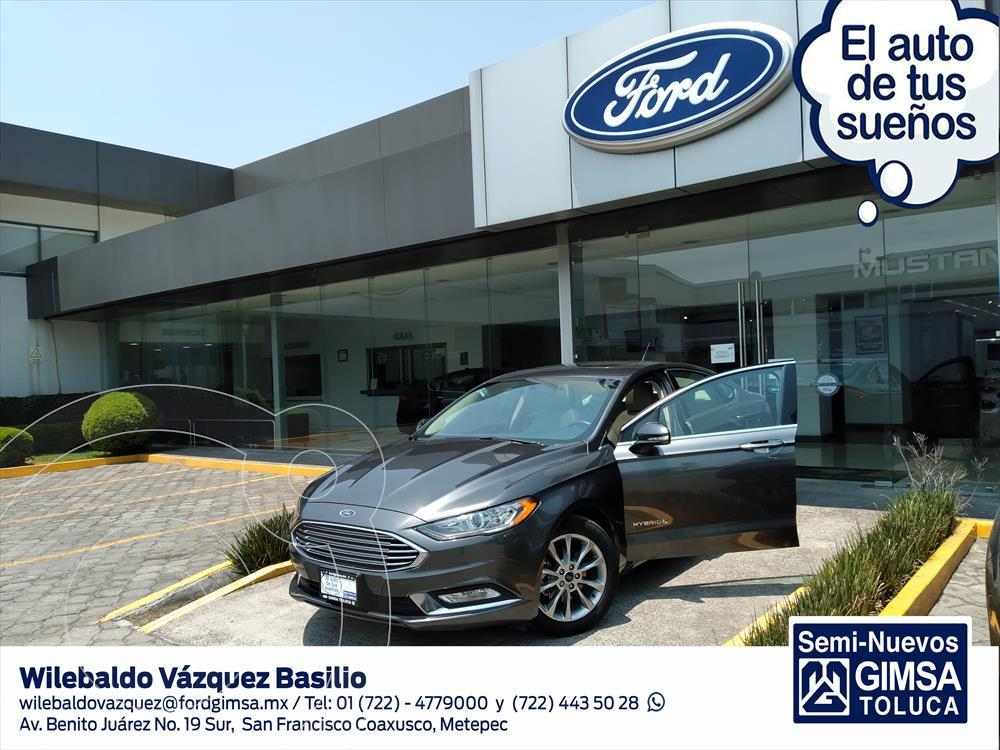 foto Ford Fusion 4P SE HIBRIDO LUXURY AUT usado (2017) color Gris Oscuro precio $325,000