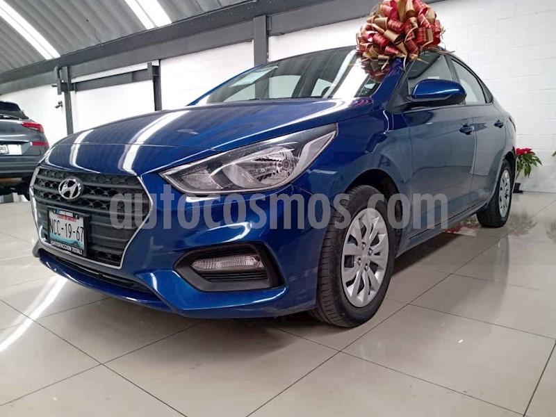 foto Hyundai Accent 4p GL L4/1.6 Aut usado (2018) color Azul precio $197,000