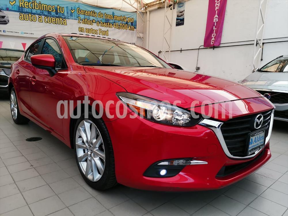 foto Mazda 3 Sedán s Aut usado (2017) color Rojo precio $235,000