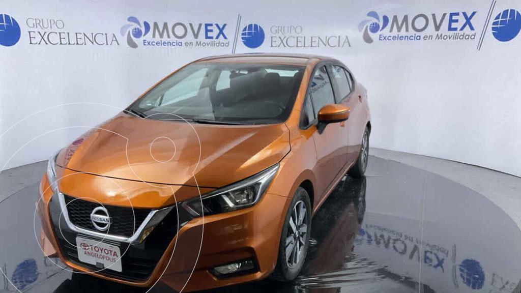 foto Nissan Versa Advance usado (2020) color Naranja precio $265,000