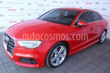 Audi A3 4p Sedan 2.0TFSI 190hp S Line usado (2018) color Rojo precio $400,000