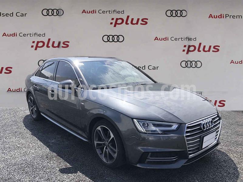 Audi A4 2.0L T S Line (200hp) usado (2018) color Gris precio $490,000