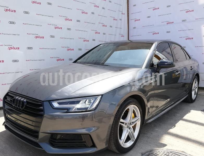 Audi A4 2.0 T S Line Quattro (252hp) usado (2018) color Gris Oscuro precio $525,000