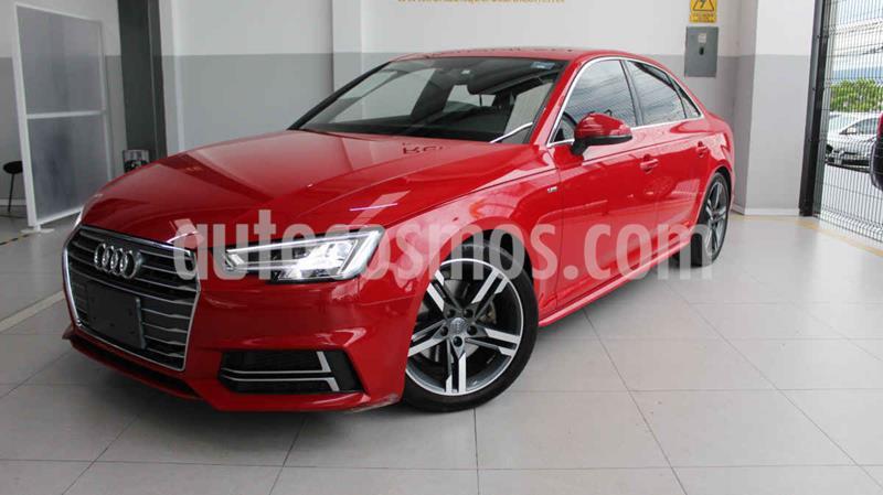 Audi A4 2.0L T S Line (200hp) usado (2018) color Rojo precio $455,000