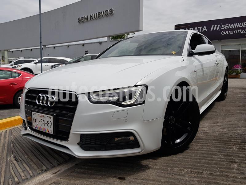 Audi A5 2.0T S-Line Quattro (211Hp) usado (2015) color Blanco precio $370,000