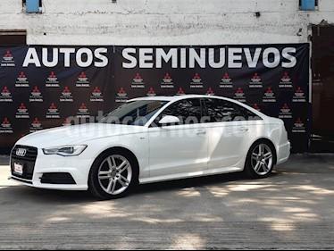 Audi A6 2.0 TFSI S Line (252hp) usado (2016) color Blanco Ibis precio $415,000