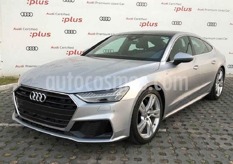 Audi A7 2.0T S Line Quattro (252hp) usado (2019) color Plata precio $1,128,000
