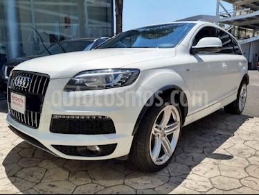 Audi Q7 5p S Line V8/4.2/TDI Aut 7/Pas usado (2015) color Blanco precio $430,000