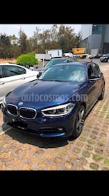 Foto venta Auto usado BMW Serie 1 5P 120iA Sport Line (2017) color Azul Profundo precio $350,000