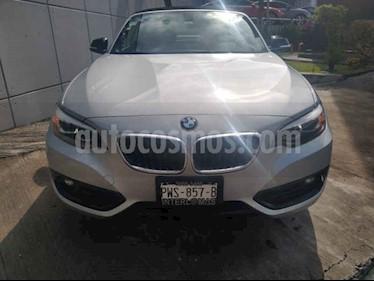 Foto venta Auto usado BMW Serie 2 220iA Convertible Sport Line Aut (2019) color Plata precio $549,000