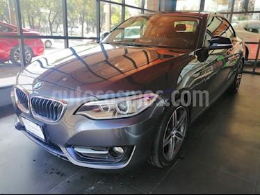 Foto venta Auto usado BMW Serie 2 220iA Sport Line Aut (2016) color Gris Mineral precio $345,000