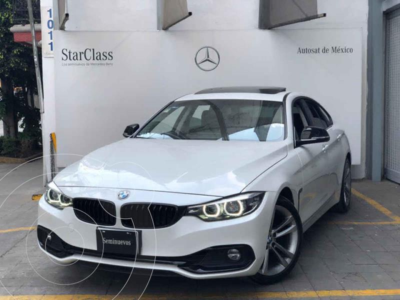 BMW Serie 4 420iA Gran Coupe Sport Line Aut usado (2018) color Blanco precio $480,000