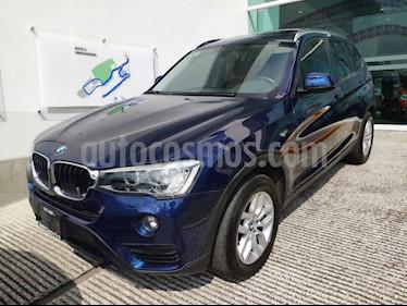 BMW X3 5p 3.0 sDrive 20iA AT usado (2017) color Azul precio $450,000