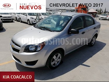 Foto venta Auto usado Chevrolet Aveo 4p LS L4/1.6 Aut. Linea Nueva (2017) color Gris precio $159,000
