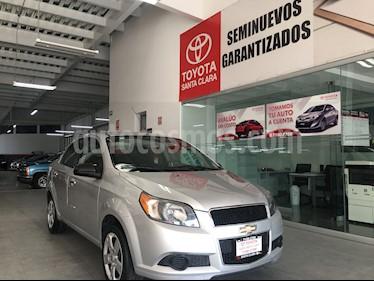 Foto venta Auto usado Chevrolet Aveo 4p LS L4/1.6 Aut (2014) color Plata precio $110,000