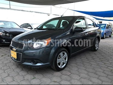 Chevrolet Aveo 4P LT TM5 A/AC. VE CD BLUETOOTH R-15 usado (2015) color Gris precio $125,000