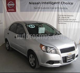 Foto venta Auto usado Chevrolet Aveo LS (2014) color Plata precio $92,000