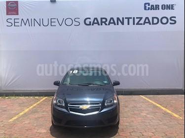 Foto venta Auto usado Chevrolet Aveo LT Aut (2018) color Azul Acero precio $175,000
