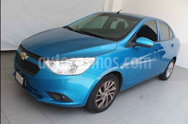 Foto venta Auto usado Chevrolet Aveo LT Aut (2018) color Azul precio $199,000