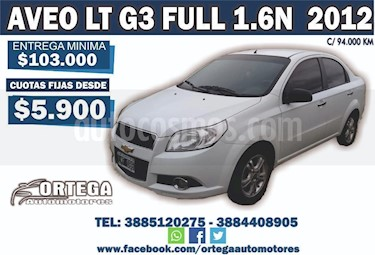 Foto venta Auto Usado Chevrolet Aveo LT (2012) color Blanco precio $193.000