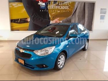 Foto Chevrolet Aveo 4P LT TM5 A/AC AUT. F. NIEBLA RA-15 usado (2018) color Azul precio $189,900