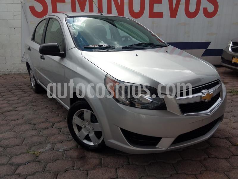 Chevrolet Aveo LS usado (2018) color Plata precio $140,000