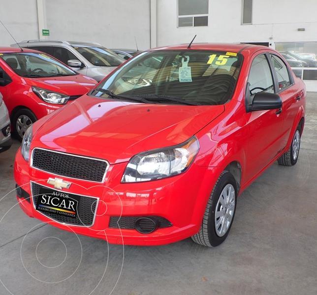 Chevrolet Aveo LS usado (2015) color Rojo precio $115,000