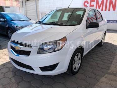 Chevrolet Aveo 4P LT AT A/AC. VE BA ABS R-15 usado (2018) color Blanco precio $158,200