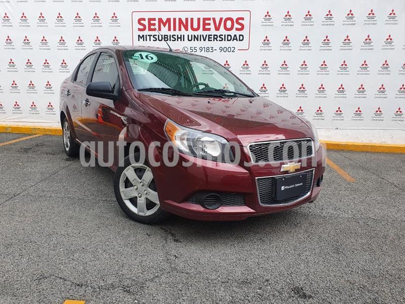 Chevrolet Aveo LT usado (2016) color Rojo Tinto precio $130,000