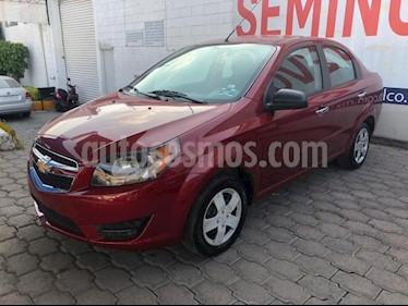 Chevrolet Aveo 4P LT AT A/AC. AUT. F. NIEBLA RA-15 usado (2018) color Rojo precio $148,000
