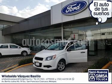 Chevrolet Aveo LS, MANUAL CON A/A Y RADIO usado (2017) color Blanco precio $110,000