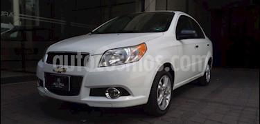Chevrolet Aveo 4P LTZ TM5 A/AC. VE CD BLUETOOTH BA F. NIEBLA RA- usado (2013) color Blanco precio $105,000