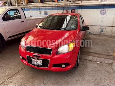 Chevrolet Aveo Paq F usado (2017) color Rojo Victoria precio $123,900