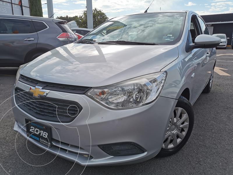 Chevrolet Aveo LS usado (2018) color Plata Brillante precio $160,000
