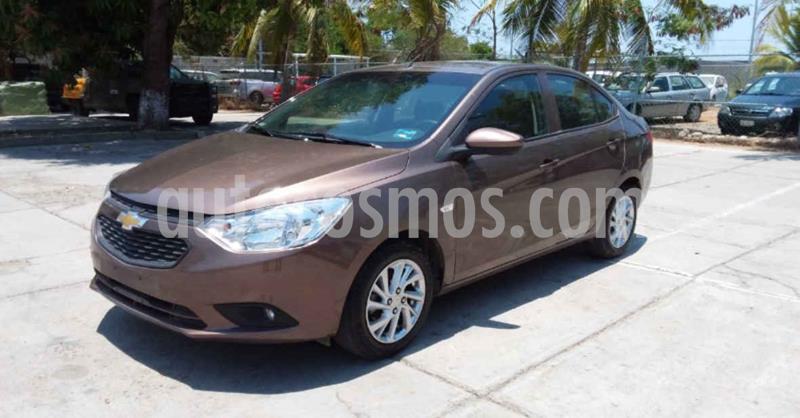 Chevrolet Aveo Paq D usado (2020) color Cafe precio $184,900