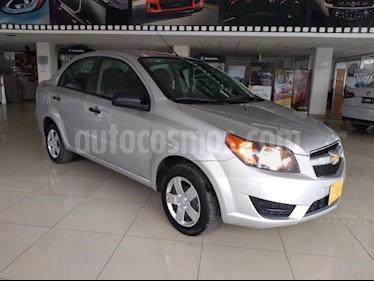 Chevrolet Aveo 4P LS TM5 A/AC. R-14 usado (2018) color Plata precio $135,000