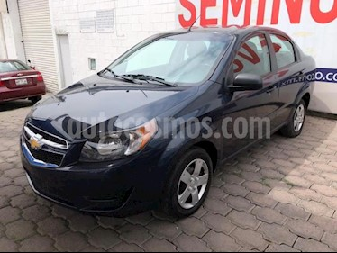 Chevrolet Aveo 4P LS AT A/AC. R-14 usado (2018) color Azul precio $145,000