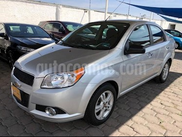 Chevrolet Aveo 4P LTZ AT A/AC. VE CD BA F. NIEBLA RA-15 usado (2014) color Plata precio $118,000