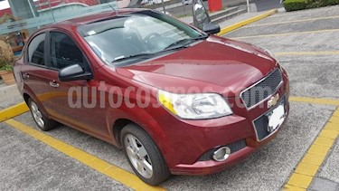 Chevrolet Aveo 4P LTZ TM5 A/AC. VE CD BLUETOOTH BA F. NIEBLA RA- usado (2012) color Rojo precio $89,000