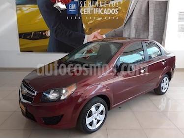 Chevrolet Aveo 4P LT AT A/AC. VE BA ABS R-15 usado (2017) color Rojo precio $156,900
