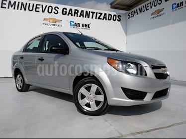 Chevrolet Aveo LS Aa usado (2017) color Plata precio $130,000