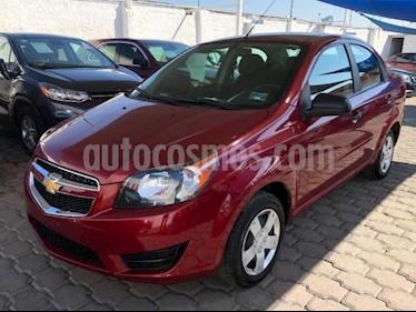Chevrolet Aveo 4P LS AT A/AC. R-14 usado (2018) color Rojo precio $145,000