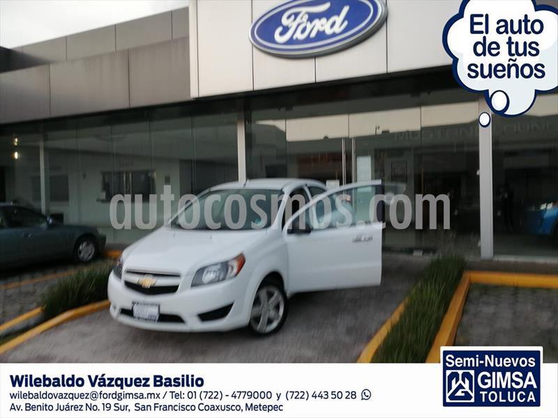 Chevrolet Aveo LT, MANUAL CON A/A, ALARMA, RADIO, BOLSAS DE AIRE usado (2017) color Blanco precio $123,000
