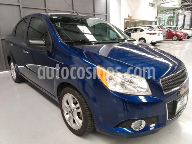 Chevrolet Aveo 4P LTZ AT A/AC. VE CD BA F. NIEBLA RA-15 usado (2014) color Azul Marino precio $104,900