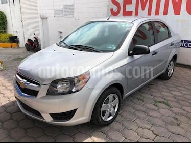 Chevrolet Aveo 4P LS AT A/AC. R-14 usado (2018) color Plata precio $138,000