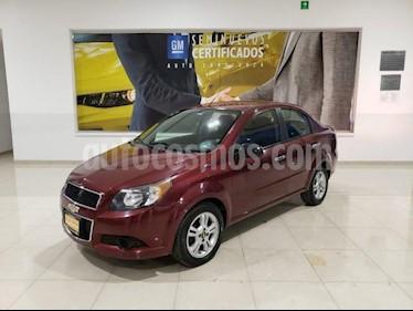 Chevrolet Aveo 4P LT AT A/AC. VE CD BLUETOOTH R-15 usado (2016) color Rojo precio $110,616