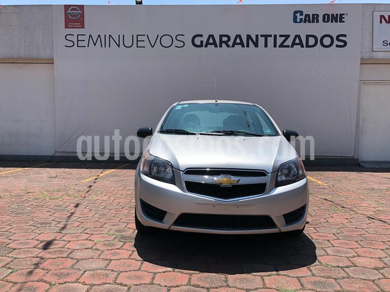Chevrolet Aveo Paq B usado (2016) color Gris Tormenta precio $124,900