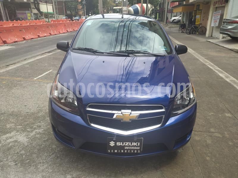 Chevrolet Aveo LS usado (2017) color Azul precio $118,000